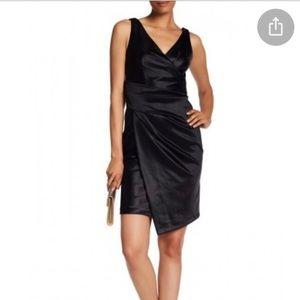 New Vera Wang Black V-Neck Cocktail Dress